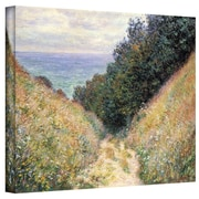 "ArtWall ""Footpath"" Gallery Wrapped Canvas Arts By Claude Monet"