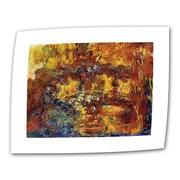 "ArtWall ""Japanese Footbridge"" Flat/Rolled Canvas Art By Claude Monet, 14"" x 18"""
