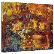 "ArtWall ""Japanese Footbridge"" Gallery Wrapped Canvas Art By Claude Monet, 18"" x 24"""