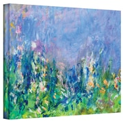 """ArtWall """"Lavender Fields"""" Gallery Wrapped Canvas Art By Claude Monet, 36"""" x 48"""""""