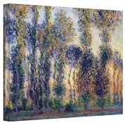 "ArtWall ""Poplars At Giverny At Sunrise"" Gallery Wrapped Canvas Arts By Claude Monet"