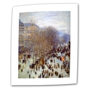 "ArtWall ""Boulevard Capucines"" Flat/Rolled Gallery Wrapped Canvas Arts By Claude Monet"