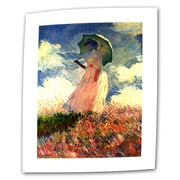"ArtWall ""Woman with Sunshade"" Flat/Rolled Canvas Arts By Claude Monet"