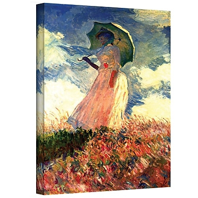 "ArtWall ""Woman with Sunshade"" Gallery Wrapped Canvas Art By Claude Monet, 24"" x 32"""
