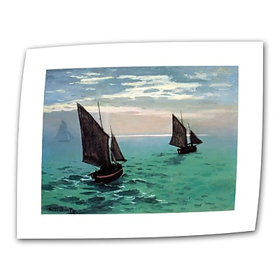 "ArtWall ""Two Sailboats"" Flat/Rolled Canvas Art By Claude Monet, 14"" x 18"""