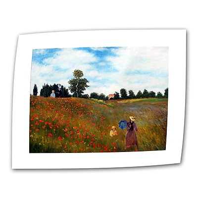 "ArtWall ""Red Poppies at Argentueil"" Flat/Rolled Canvas Art By Claude Monet, 14"" x 18"""