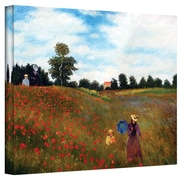 "ArtWall ""Red Poppies at Argentueil"" Gallery Wrapped Canvas Arts By Claude Monet"