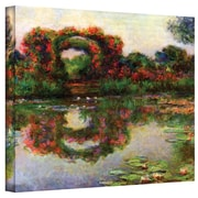 "ArtWall ""Foliage Trestle"" Gallery Wrapped Canvas Arts By Claude Monet"