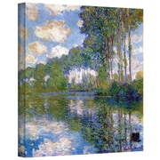 "ArtWall ""Trees"" Gallery Wrapped Canvas Arts By Claude Monet"