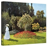 "ArtWall ""Woman in Park with Poppies"" Gallery Wrapped Canvas Arts By Claude Monet"