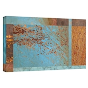 "ArtWall ""Blue Brown Collage"" Gallery Wrapped Canvas Arts By Cora Niele"