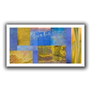 """ArtWall """"Blue Yellow Collage"""" Flat Unwrapped Canvas Arts By Cora Niele"""