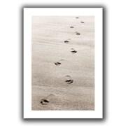"ArtWall ""Footprint"" Unwrapped Canvas Art By Cora Niele, 32"" x 48"""