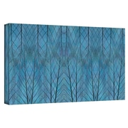 "ArtWall ""Leaf Design Blue"" Gallery Wrapped Canvas Arts By Cora Niele"