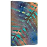 """ArtWall """"Leaf Pattern"""" Gallery Wrapped Canvas Art By Cora Niele, 24"""" x 36"""""""