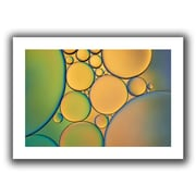 "ArtWall ""Orange Green"" Flat Unwrapped Canvas Art By Cora Niele, 12"" x 18"""