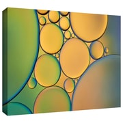 """ArtWall """"Orange Green"""" Gallery Wrapped Canvas Art By Cora Niele, 32"""" x 48"""""""