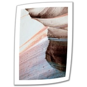 "ArtWall ""Desert Sands Mountain"" Unwrapped Canvas Art By Linda Parker, 18"" x 12"""