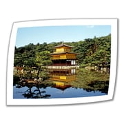 "ArtWall ""Kyoto's Golden Pavilion"" Unwrapped Canvas Art By Linda Parker, 14"" x 18"""