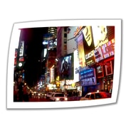 """ArtWall """"NYC Bright Lights Broadway"""" Unwrapped Canvas Arts By Linda Parker"""