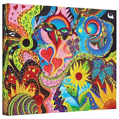 "ArtWall ""Hearts and Flowers"" Gallery Wrapped Canvas Art By Marina Petro, 24"" x 32"""