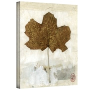 "ArtWall ""Golden Leaf"" Gallery Wrapped Canvas Art By Elena Ray, 24"" x 18"""