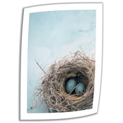 "ArtWall ""Blue Nest"" Unwrapped Canvas Art By Elena Ray, 18"" x 12"""