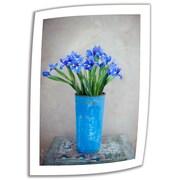 "ArtWall ""Iris Flowers"" Unwrapped Canvas Art By Elena Ray, 24"" x 16"""