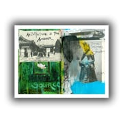 "ArtWall ""Art Journal Architecture"" Flat Flat Unwrapped Canvas Arts By Elena Ray"