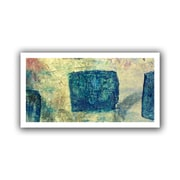 "ArtWall ""Blue Golds"" Flat Unwrapped Canvas Art By Elena Ray, 12"" x 24"""