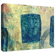 "ArtWall ""Blue Golds"" Gallery Wrapped Canvas Art By Elena Ray, 12"" x 24"""