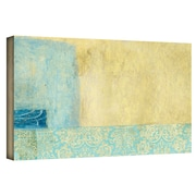 """ArtWall """"Gold Blue Banner"""" Gallery Wrapped Canvas Arts By Elena Ray"""
