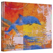 "ArtWall ""Dolphin"" Gallery Wrapped Canvas Art By Greg Simanson, 18"" x 24"""