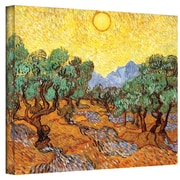 """ArtWall """"Olive Tree with Yellow Sky..."""" Gallery Wrapped Canvas Arts By Vincent Van Gogh"""
