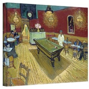 """ArtWall """"The Night Cafe in the Place..."""" Gallery Wrapped Canvas Arts By Vincent Van Gogh"""