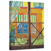 "ArtWall ""Pork-Butchers Shop Through..."" Gallery Wrapped Canvas Arts By Vincent Van Gogh"