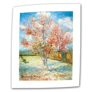 "ArtWall ""The Pink Peach Tree"" Flat/Rolled Canvas Art By Vincent Van Gogh, 24"" x 32"""