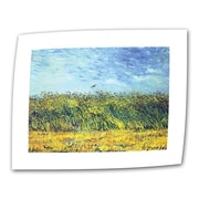 """ArtWall """"Wheat Fields With a Lark"""" Flat/Rolled Canvas Art By Vincent Van Gogh, 14"""" x 18"""""""