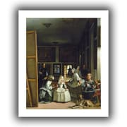 """ArtWall """"Las Meninas or The Family of..."""" Unwrapped Canvas Arts By Diego Velazquez"""