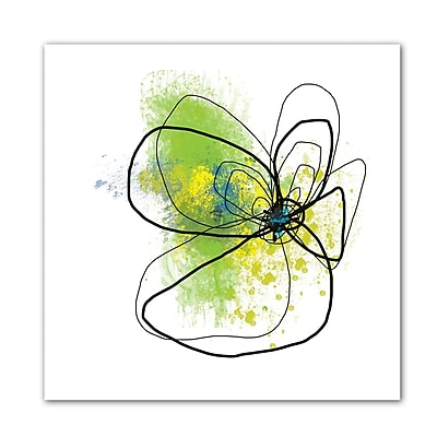 "ArtWall ""Citron Petals"" Flat Unwrapped Canvas Art By Jan Weiss, 36"" x 36"""