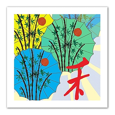 "ArtWall ""Parasol Parade"" Flat Unwrapped Canvas Art By Jan Weiss, 14"" x 14"""
