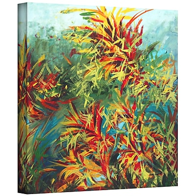 """ArtWall """"Quiet Lake II"""" Gallery Wrapped Canvas Art By Jan Weiss, 36"""" x 36"""""""