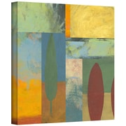 "ArtWall ""Tuscany Square II"" Gallery Wrapped Flat Canvas Art By Jan Weiss, 14"" x 14"""