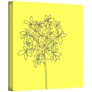 """ArtWall """"Yellow Happy Flower"""" Gallery Wrapped Canvas Arts By Jan Weiss"""