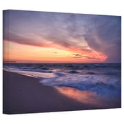 "ArtWall ""Outer Banks Sunset I"" Gallery Wrapped Canvas Arts By Dan Wilson"