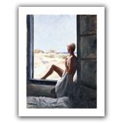 "ArtWall ""Blue Sea Dream"" Flat Unwrapped Canvas Arts By John Worthington"