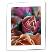"ArtWall ""Mauve and Peach Roses"" Flat/Rolled Canvas Art By Kathy Yates, 12"" x 18"""