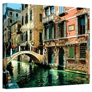 "ArtWall ""Venice Canal"" Gallery Wrapped Canvas Arts By George Zucconi"