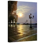"""ArtWall """"Venice Piazza 2"""" Gallery Wrapped Canvas Art By George Zucconi, 18"""" x 24"""""""
