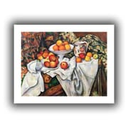 """ArtWall """"Apples and Oranges"""" Unwrapped Canvas Arts By Paul Cezanne"""